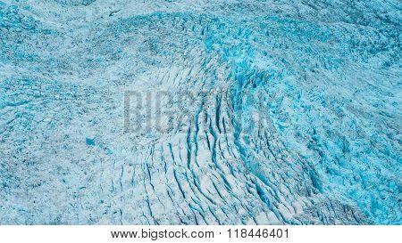 Glacial Crevasses In Alaska