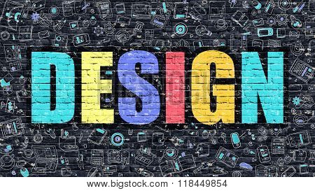 Design in Multicolor. Doodle Design.