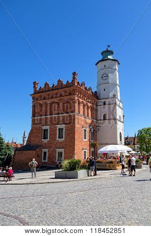 City Hall in the Old Town in Sandomierz, Poland