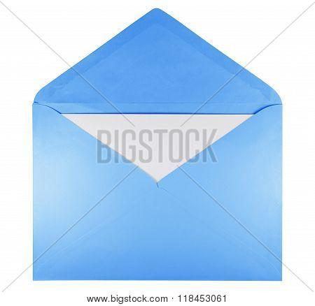 Blank Open Envelope - Light Blue