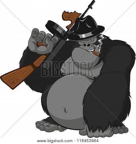 Monkey with guns