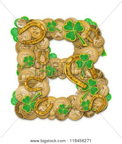 St. Patricks Day Holiday Letter B