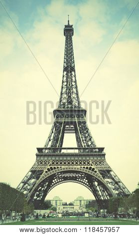 The Eiffel Tower in Paris. Instagram style filtred image