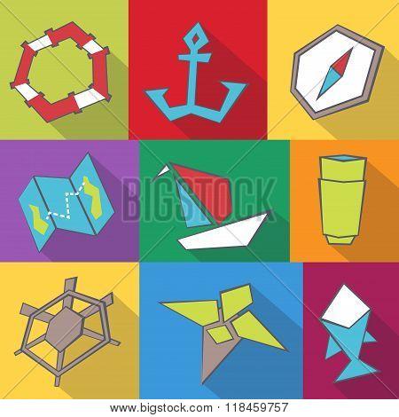 Sea Travel Icons