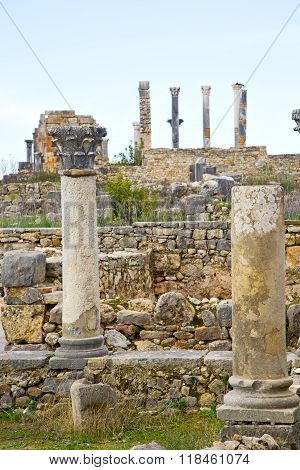 Volubilis In Morocco   Deteriorated Monument And Site