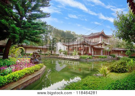 Yuyuan Garden style in Mae Fha luang university ,Chiangrai Thailand .Considered one of the most lavi