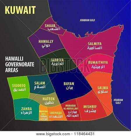 Kuwait - Hawalli Governorate Areas