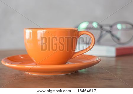 Orange Mug Cup Of Coffee