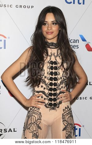 LOS ANGELES - FEB 15:  Camila Cabello at the Universal Music Group's 2016 Grammy After Party at the Ace Hotel on February 15, 2016 in Los Angeles, CA