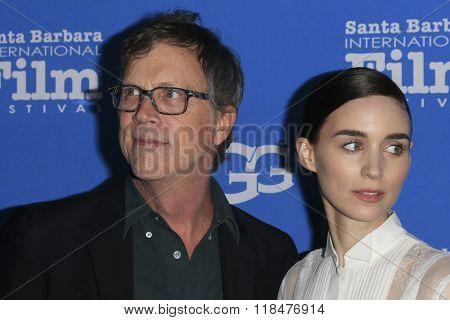 SANTA BARBARA - FEB 12:  Todd Haynes, Rooney Mara at the 31st Santa Barbara International Film Festival - Cinema Vanguard Award at the Arlington Theatre on February 12, 2016 in Santa Barbara, CA