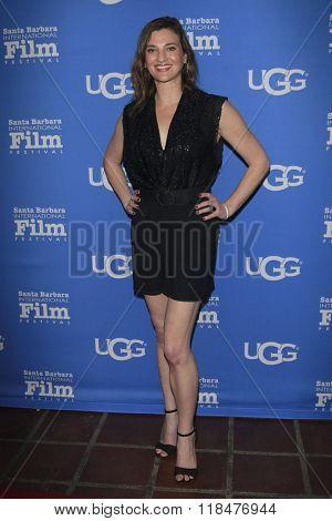 SANTA BARBARA - FEB 12:  Deena Adar at the 31st Santa Barbara International Film Festival - Cinema Vanguard Award at the Arlington Theatre on February 12, 2016 in Santa Barbara, CA