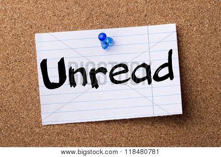 Unread - Teared Note Paper Pinned On Bulletin Board