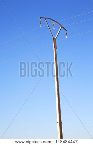 Utility Pole In Africa Morocco Energy And