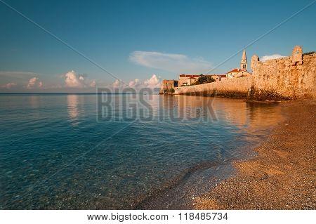 Castle Of Old Town In Budva, Montenegro