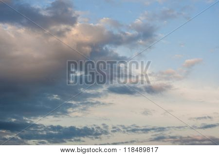 Cloudy Late Afternoon Sky