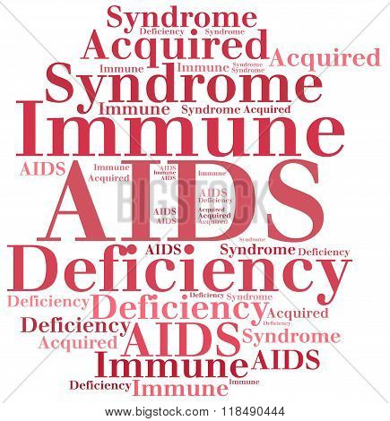 AIDS - Acquired Immune Deficiency Syndrome. Disease abbreviation. poster