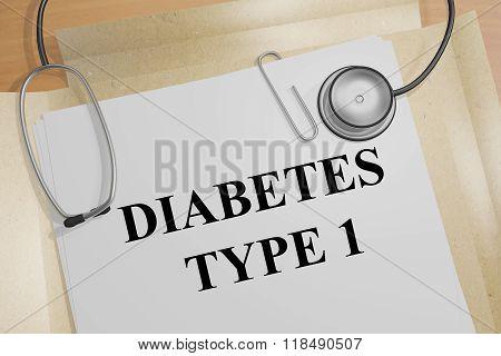 Diabetes Type 1 Concept