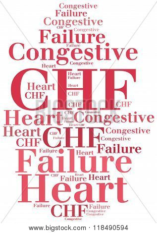 Chf - Congestive Heart Failure. Disease Abbreviation Concept.