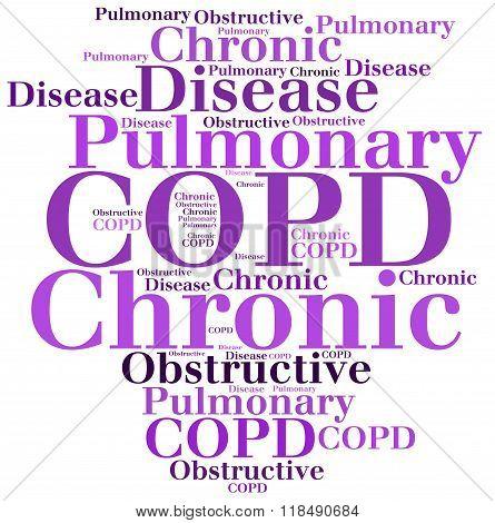 Copd - Chronic Obstructive Pulmonary Disease. Disease Concept.