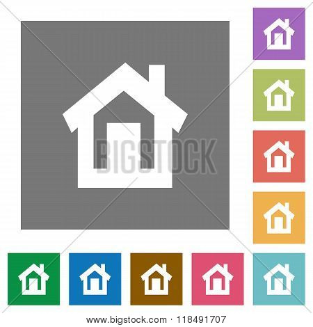 Home Square Flat Icons