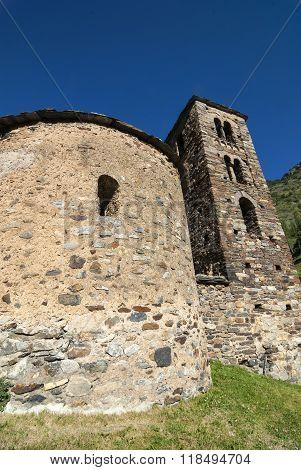 Sant Joan de Caselles, Romanesque church in Andorra poster