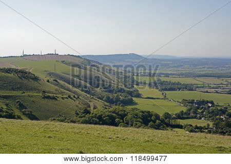 The South Downs In Sussex. England