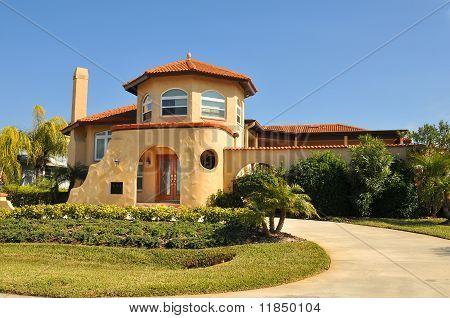 Spanish home with Pueblo hint
