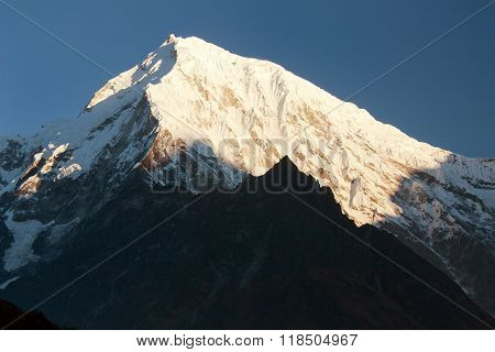 Evening View Of Mount Langtang Peak
