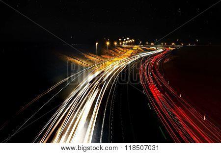 Busy Night Highway