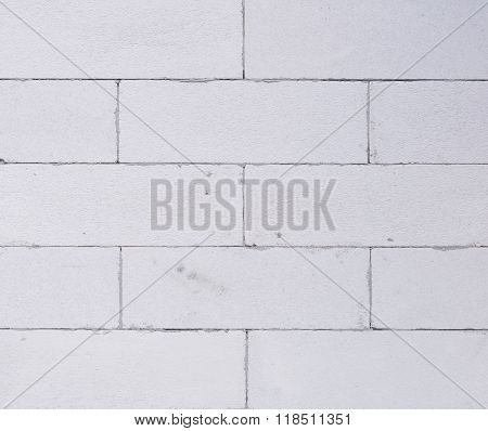 Background Texture Of White Lightweight Concrete Block, Foamed Concrete Block