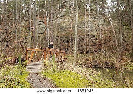 new wooden footbridge in Peklo Hell