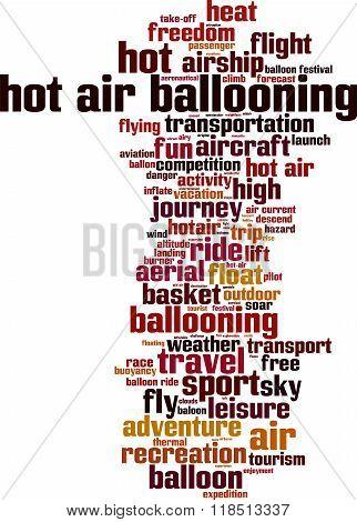 Hot Air Ballooning Word Cloud