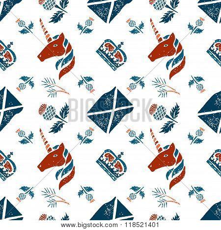 Scottish seamless pattern