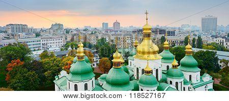 Cupola Of St. Sophia Cathedral. Kiev