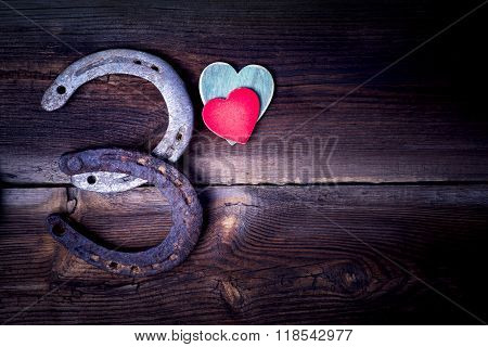 Lucky Horseshoes And Hearts
