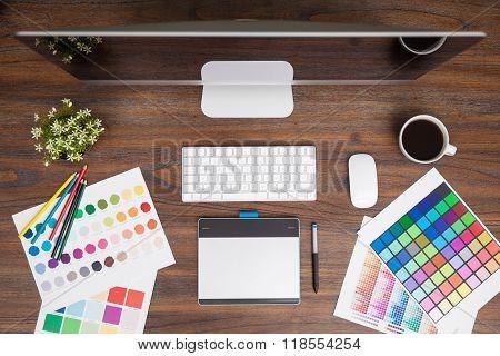Designer Desk From Above