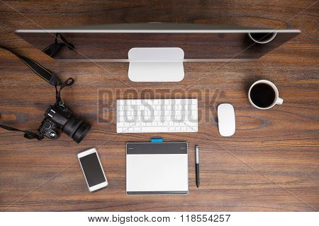 Workspace Of A Photographer