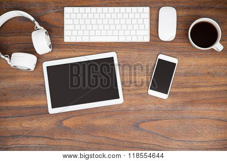 All Types Of Technology On A Desk