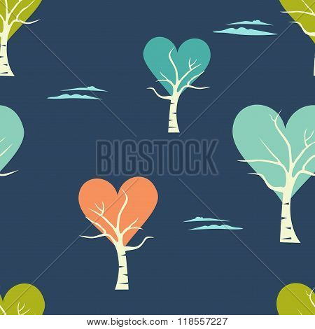 Birch Tree Background.