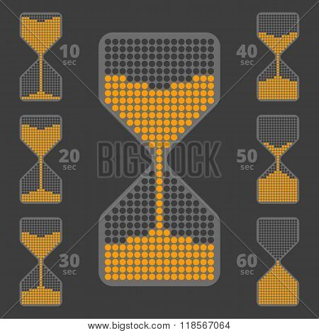 Sandglass like indicator set 1
