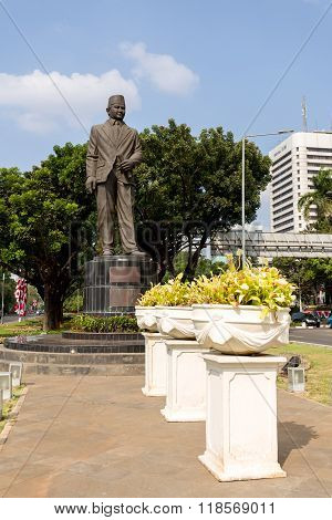 Statue Of Mohammad Husni Thamrin In Jakarta