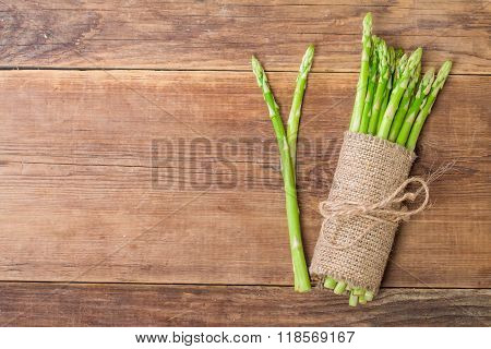 Bunch Of Fresh Asparagus Stems