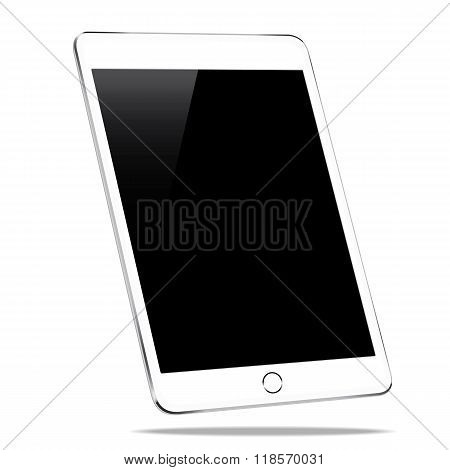 mockup tablet isolated on white