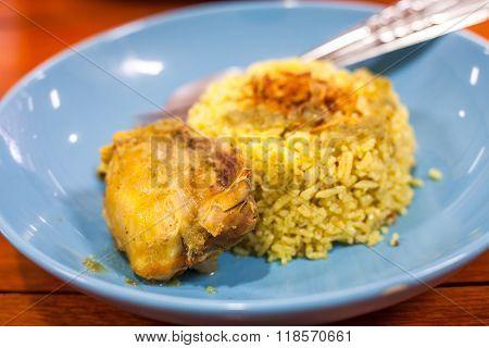 Chicken Biryani ,Thailand foods (khao mok gai)