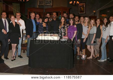LOS ANGELES - FEB 12:  Kristoff St John, Young and Restless Cast at the Kristoff St John celebrates 25 Years at YnR at the CBS Television City on February 12, 2016 in Los Angeles, CA