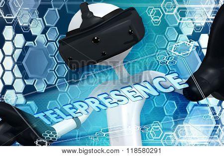 Virtual Reality VR Telepresence