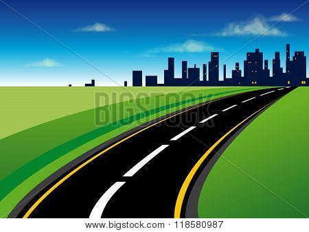 The road to the city