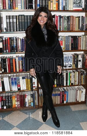 HUNTINGTON, NY-FEB 16: TV personality Teresa Giudice signs copies of her book,