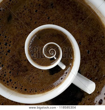 Smell from Coffee Cup Above