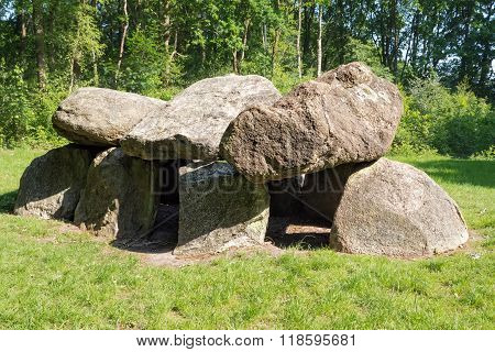 Prehistoric dolmen in The Netherlands